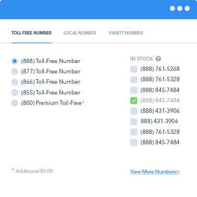 toll free number picker