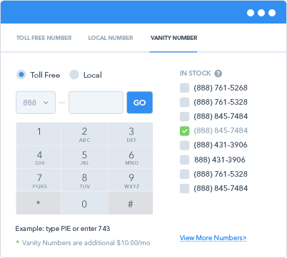 Vanity Phone Number Picker
